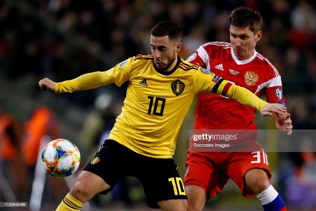 Belgium  v Russia  -EURO Qualifier : News Photo