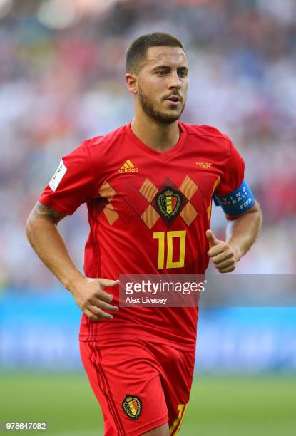 Eden Hazard of Belgium looks on during the 2018 FIFA World Cup Russia group G match between Belgium and Panama at Fisht Stadium on June 18 2018 in...
