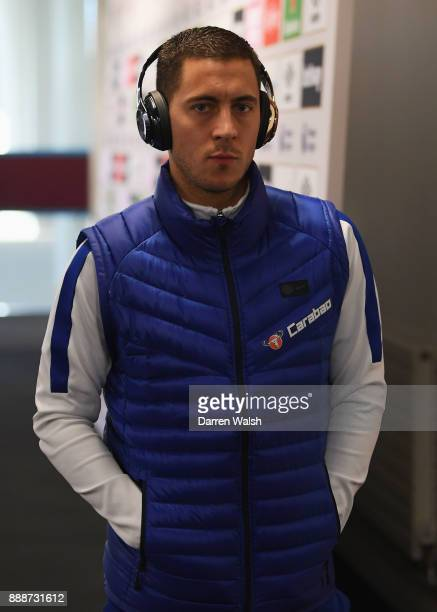 Eden Hazard of Chelsea arrives at the stadium prior to the Premier League match between West Ham United and Chelsea at London Stadium on December 9...