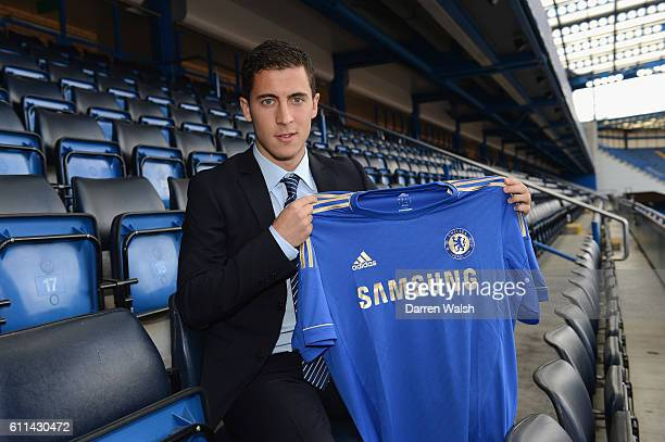 Eden Hazard of Chelsea during a Chelsea magazine feature on June 4 2012 at Stamford Bridge in London England