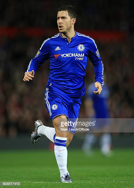 Eden Hazard of Chelsea during the Barclays Premier League match between Manchester United and Chelsea at Old Trafford on December 28 2015 in...