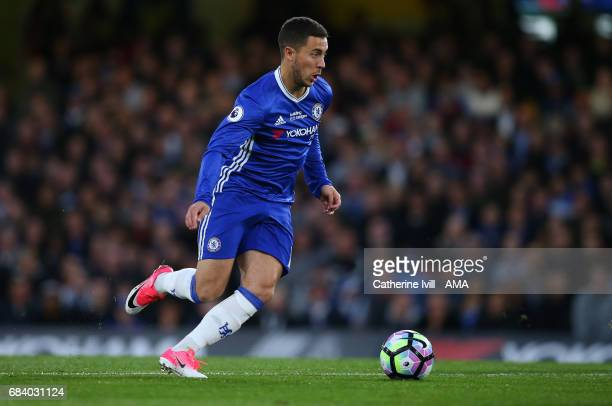 Eden Hazard of Chelsea during the Premier League match between Chelsea and Watford at Stamford Bridge on May 15 2017 in London England