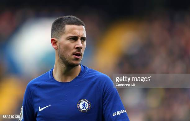 Eden Hazard of Chelsea during the Premier League match between Chelsea and Newcastle United at Stamford Bridge on December 2 2017 in London England