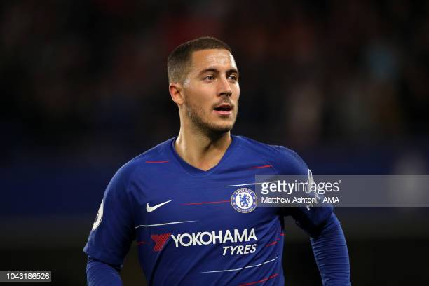 Eden Hazard of Chelsea during the Premier League match between Chelsea FC and Liverpool FC at Stamford Bridge on September 29 2018 in London United...