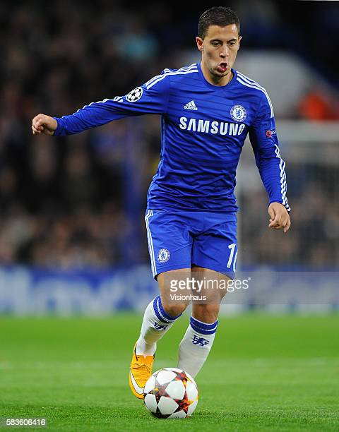 Eden Hazard of Chelsea during the UEFA Champions League Group G match between Chelsea and NK Maribor at Stamford Bridge in London UK Photo...