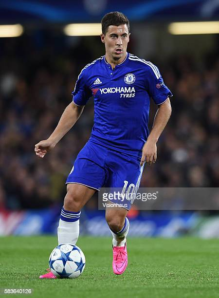 Eden Hazard of Chelsea during the UEFA Champions League Group G match between Chelsea and Maccabi TelAviv at Stamford Bridge in London UK Photo...