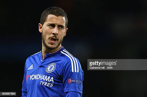 Eden Hazard of Chelsea during the UEFA Champions League match between Chelsea and FC Porto at Stamford Bridge on December 9 2015 in London United...