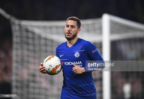 Eden Hazard of Chelsea in action during the UEFA Europa League Semi Final Second Leg match between Chelsea and Eintracht Frankfurt at Stamford Bridge...