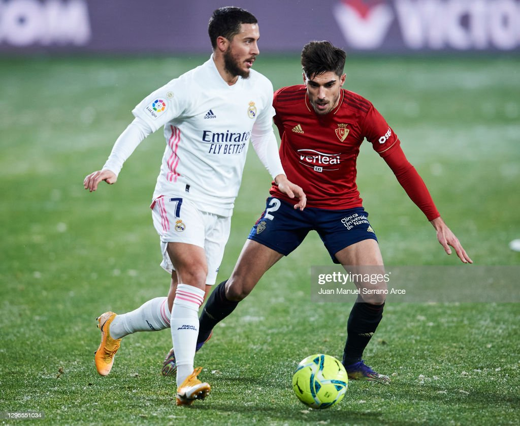 C.A. Osasuna v Real Madrid - La Liga Santander : News Photo