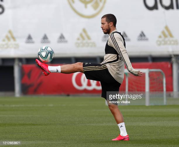 Eden Hazard of Real Madrid during a first training session since the Covid19 pandemic at Valdebebas training ground on May 11 2020 in Madrid Spain