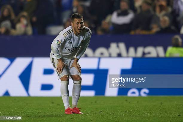 Eden Hazard of Real Madrid during the Liga match between Levante UD and Real Madrid CF at Ciutat de Valencia on February 22, 2020 in Valencia, Spain.
