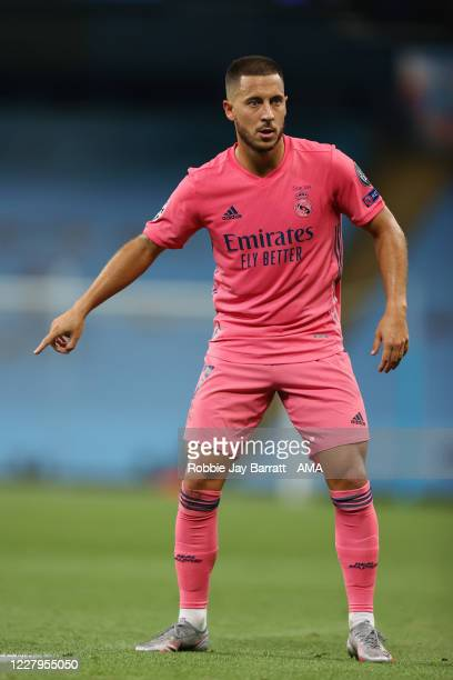 Eden Hazard of Real Madrid during the UEFA Champions League round of 16 second leg match between Manchester City and Real Madrid at Etihad Stadium on...