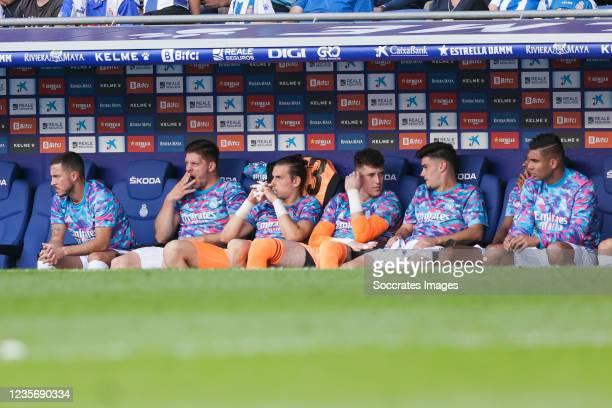 Eden Hazard of Real Madrid, Luka Jovic of Real Madrid, Andriy Lunin of Real Madrid, Luis Lopez of Real Madrid, Miguel Gutierrez of Real Madrid,...