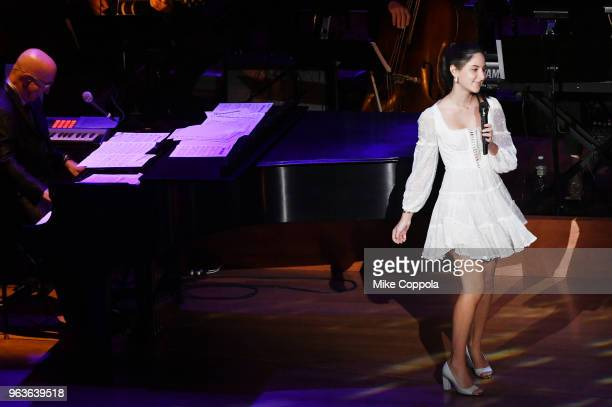 Eden Plepler performs onstage during Lincoln Center's American Songbook Gala at Alice Tully Hall on May 29 2018 in New York City