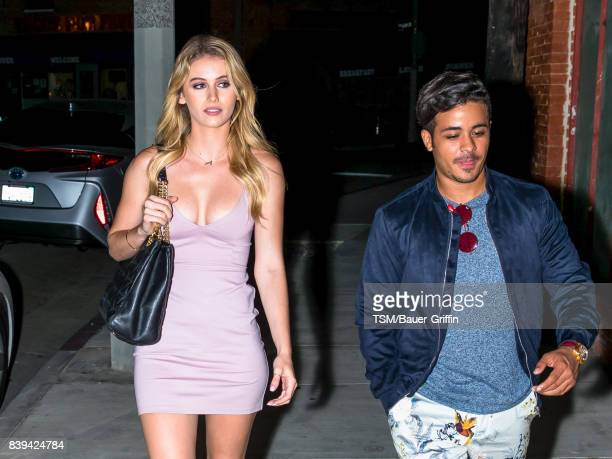 Eden Rambo and Christian Navarro are seen on August 25 2017 in Los Angeles California