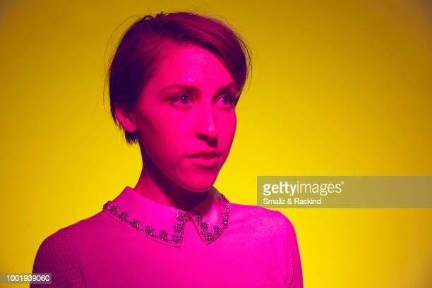 Eden Sher from Disney XD's 'Star vs the Forces of Evil' poses for a portrait in the Getty Images Portrait Studio powered by Pizza Hut at San Diego...