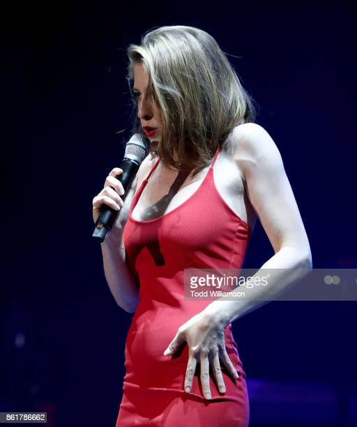 Eden Sher performs onstage at National Breast Cancer Coalition Fund's 17th Annual Les Girls Cabaret at Avalon Hollywood on October 15 2017 in Los...