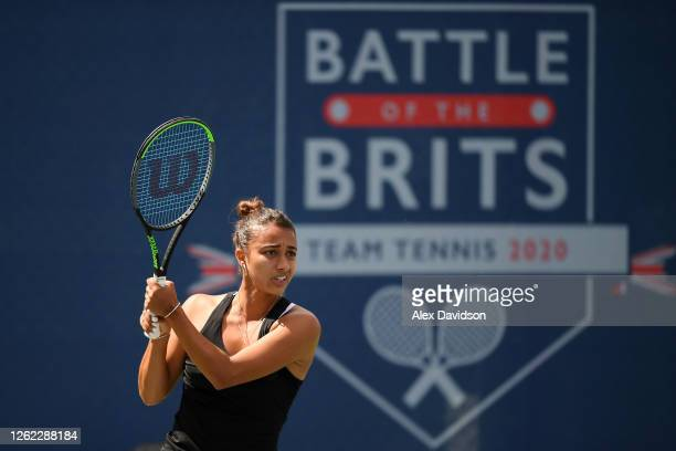 Eden Silva of British Bulldogs in action during her match against Heather Watson of Union Jacks during day three St. James's Place Battle Of The...