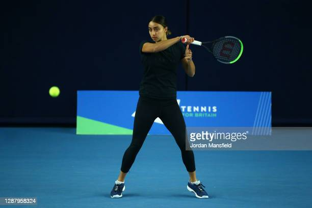 Eden Silva of Great Britain during a training session at the National Tennis Centre on November 25, 2020 in London, England.