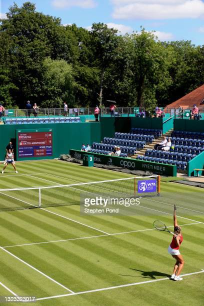 Eden Silva of Great Britain in action against Giulia Gatto-Monticone of Italy in qualifying during the Viking Classic Birmingham at Edgbaston Priory...