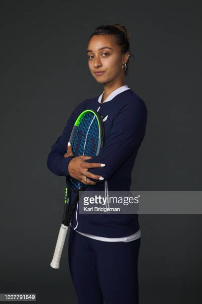 Eden Silva poses for a portrait prior to the St. James's Place Battle of the Brits Team Tennis at National Tennis Centre on July 26, 2020 in London,...