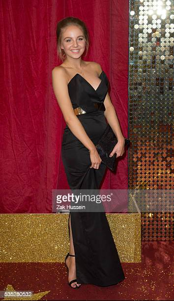 Eden TaylorDraper arrives for British Soap Awards 2016 at Hackney Empire on May 28 2016 in London England