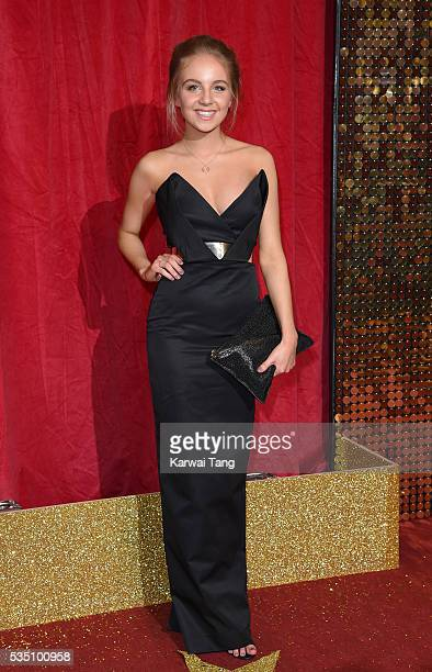 Eden TaylorDraper arrives for the British Soap Awards 2016 at the Hackney Town Hall Assembly Rooms on May 28 2016 in London England