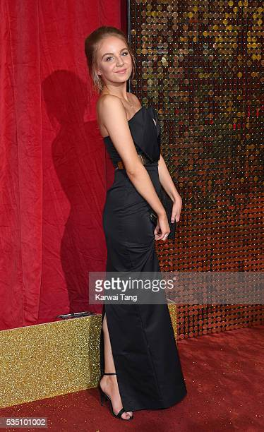 Eden Taylor-Draper arrives for the British Soap Awards 2016 at the Hackney Town Hall Assembly Rooms on May 28, 2016 in London, England.