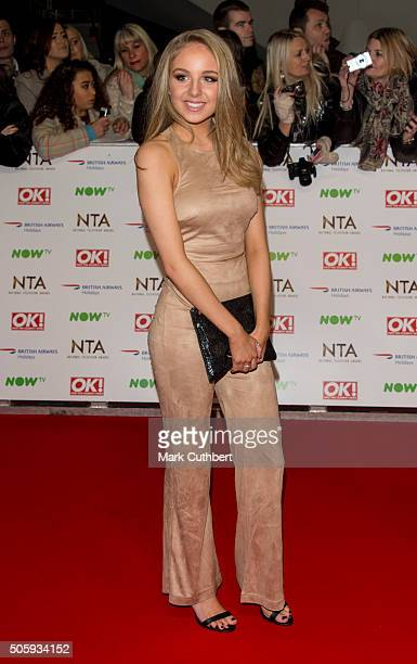 Eden TaylorDraper attends the 21st National Television Awards at The O2 Arena on January 20 2016 in London England