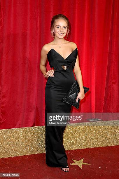 Eden TaylorDraper attends the British Soap Awards 2016 at Hackney Empire on May 28 2016 in London England