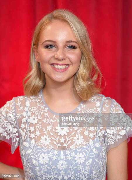 Eden TaylorDraper attends the British Soap Awards at The Lowry Theatre on June 3 2017 in Manchester England