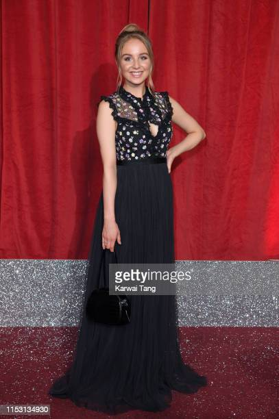 Eden Taylor-Draper attends the British Soap Awards at The Lowry Theatre on June 01, 2019 in Manchester, England.