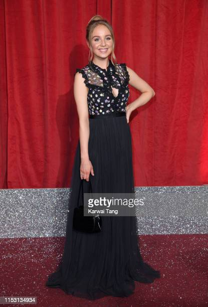 Eden TaylorDraper attends the British Soap Awards at The Lowry Theatre on June 01 2019 in Manchester England