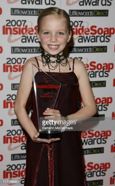 Eden TaylorDraper attends the Inside Soap Awards 2007 on September 24 2007 in London England