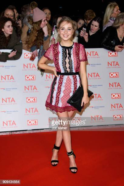 Eden Taylor-Draper attends the National Television Awards 2018 at The O2 Arena on January 23, 2018 in London, England.