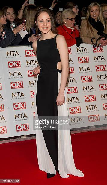 Eden TaylorDraper attends the National Television Awards at 02 Arena on January 21 2015 in London England