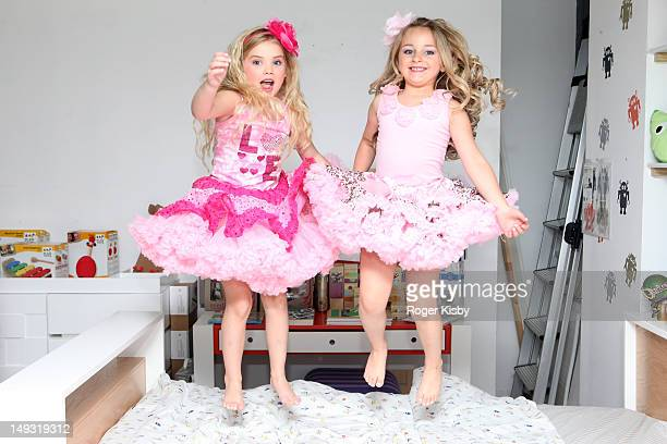 Eden Wood and Isabella Barrett attend Tiny Tots Mini Mogul Fashion Event at Babestas on July 26 2012 in New York City