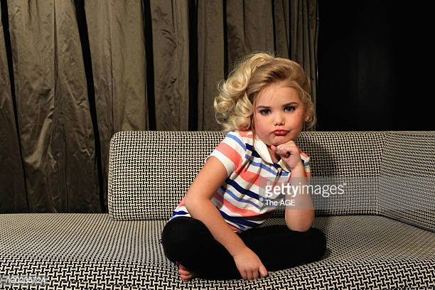 Eden Wood sixyearold child pageant superstar from the United States is photographed in Melbourne Eden was to participate in the Universal Royal...