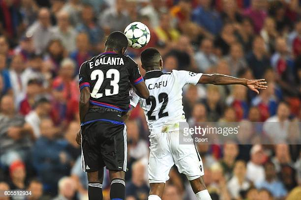 Eder Balanta of Basel and Jonathan Cafu of Ludogorets during the Uefa Champions League match between Basel Fc and PFC Ludogorets Razgrad on September...