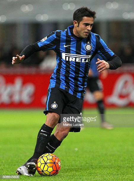 Eder Citadin Martins of FC Internazionale Milano in action during the Serie A match between FC Internazionale Milano and AC Chievo Verona at Stadio...