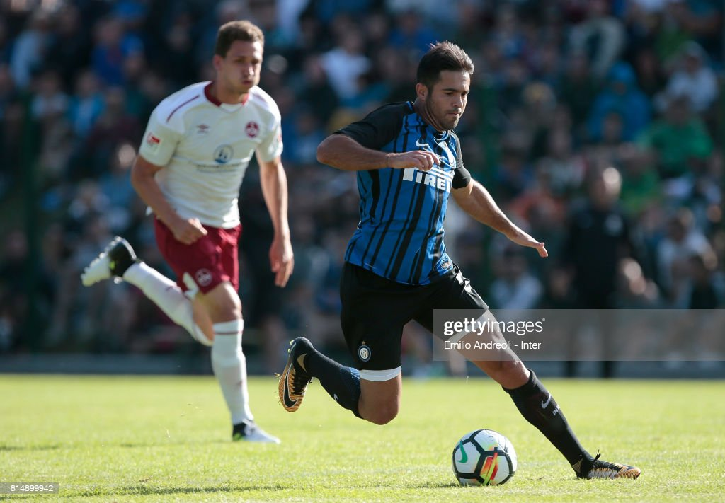 Eder Citadin Martins of FC Internazionale Milano in action during the Pre-Season Friendly match between FC Internazionale and Nurnberg on July 15, 2017 in Bruneck, Italy.