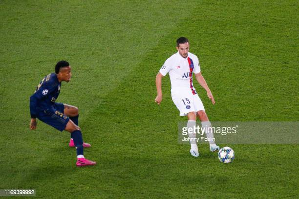 Eder MILITAO of Real Madrid and Pablo SARABIA of PSG during the UEFA Champions League match between Paris Saint Germain and Real Madrid at Parc des...
