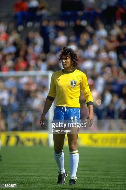 Eder of Brazil stands on the pitch during a match Mandatory Credit Allsport UK /Allsport