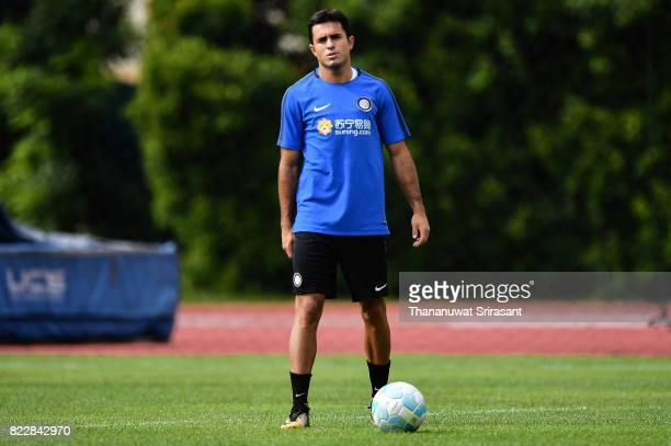 Eder of FC Inter Milan looks during a training session of International Champions Cup training session at Bishan Stadium on July 26 2017 in Singapore