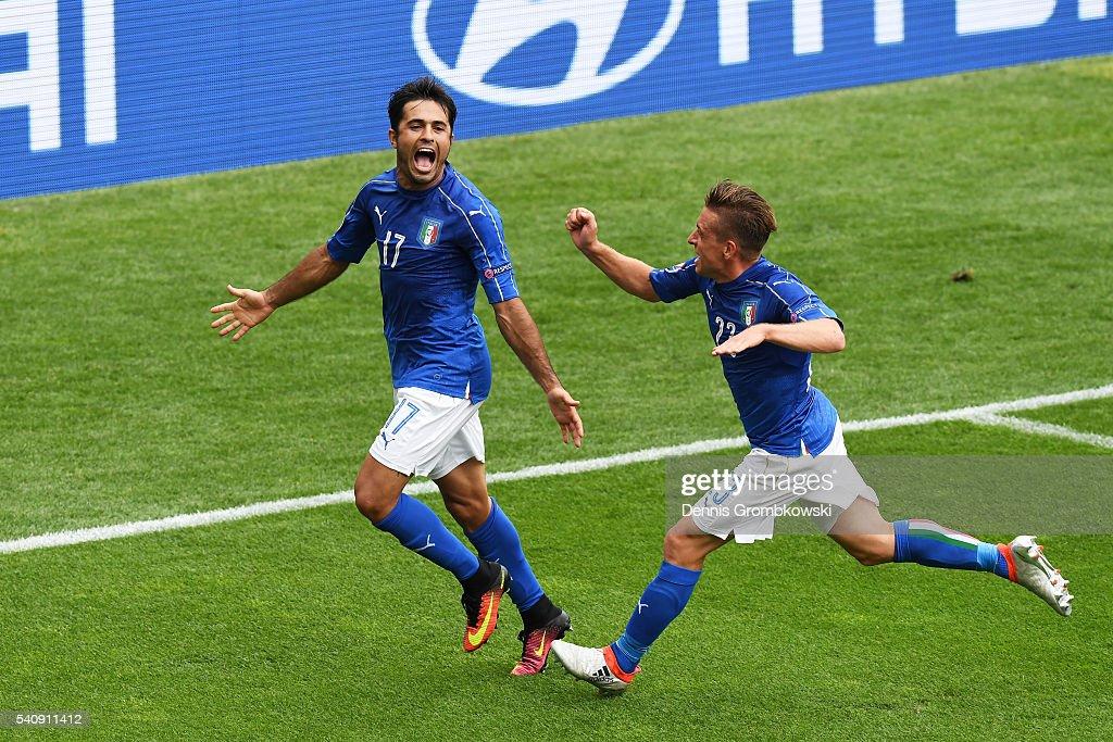 Italy v Sweden - Group E: UEFA Euro 2016 : Nachrichtenfoto
