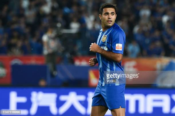 Eder of Jiangsu Suning in action during the 8th round match of 2019 Chinese Football Association Super League between Jiangsu Suning and Dalian...