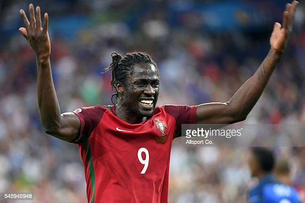Eder of Portugal celebrates after Portugal's 10 win against France during the UEFA EURO 2016 Final match between Portugal and France at Stade de...