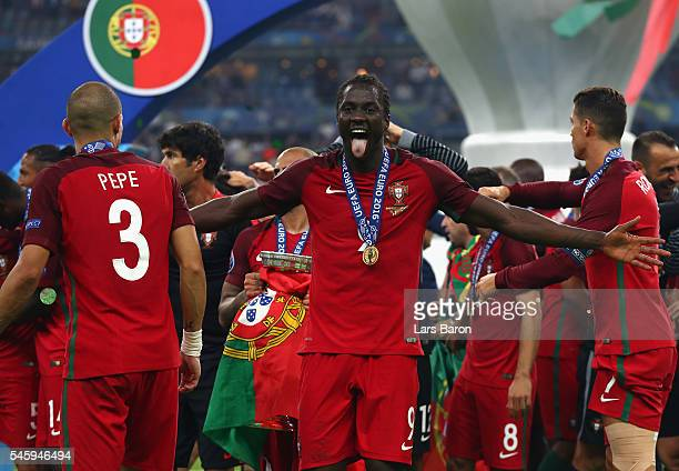 Eder of Portugal celebrates after their 10 win against France in the UEFA EURO 2016 Final match between Portugal and France at Stade de France on...