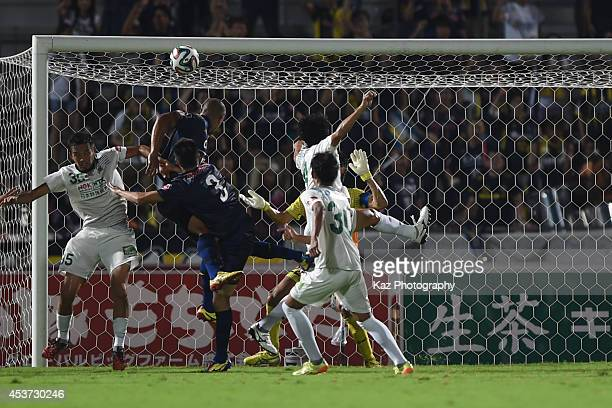 Eder of Thespakusatsu Gunma heads for home to make 12 score sheet during the J League 2nd division match between Thespakusatsu Gunma and FC Gifu at...