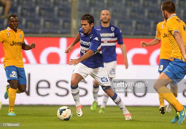 Eder of UC Sampdoria in action during the Serie A match between UC Sampdoria and Juventus at Stadio Luigi Ferraris on August 24 2013 in Genoa Italy